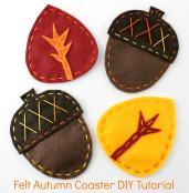 Lova Revolutionary Blog Acorn Leaf Coaster Diy
