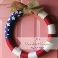Love Farm Cake Diy Fabric Yarn 4th July Wreath
