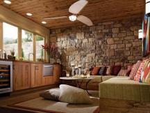 Lovely Stone Wall Living Room Design 2014 Nationtrendz