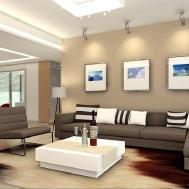 Luxury Minimalist Living Room Interior Design Grey