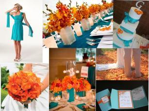 Luxury Turquoise Orange Decor Your