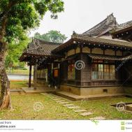 Maison Style Japonais Dans Taiwan Stock
