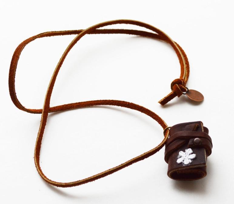 Maize Hutton Little Leather Journal Necklace Diy