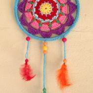 Make Colorful Mandala Dreamcatcher Diy Home