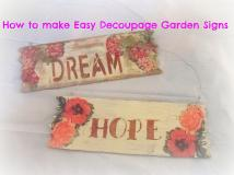 Make Decoupage Wood Garden Signs Tutorial