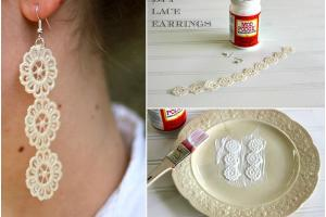 Make Diy Lace Earrings Mod Podge Rocks