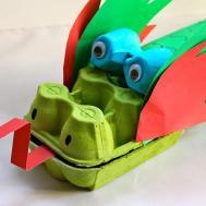 Make Egg Carton Dragon