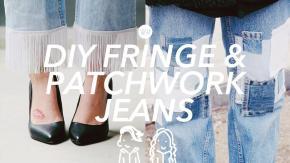 Make Fringe Patchwork Jeans Diy Date