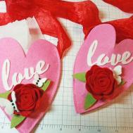 Make Heart Hanging Pocket Valentines Day