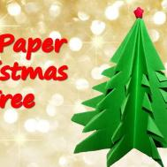 Make Paper Christmas Tree Origami