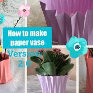 Make Paper Vase Diy Craft Version2
