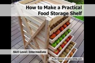 Make Practical Food Storage Shelf