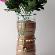 Make Silk Flower Vase Plastic Bottle Diy Home