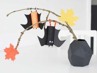 Make Spooky Bat Halloween Diy Decorations