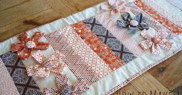 Make Table Runner Fabric Flowers