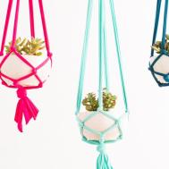 Make These Macrame Hanging Planters Minutes Brit