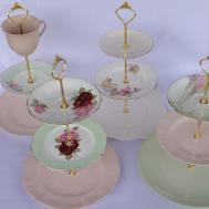 Make Tier Vintage Wedding Cake Plate Tiered Stand