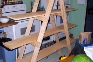 Make Your Own Ladder Shelf Craft Show Display