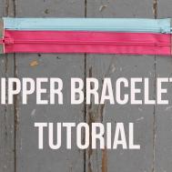 Make Zipper Bracelet Tutorial