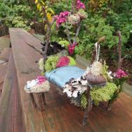 Making Miniature Fairy Garden Bed Craft Diy Tutorial