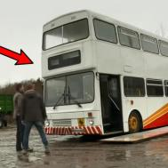 Man Renovates Old Bus Into Mobile Home One Step Inside