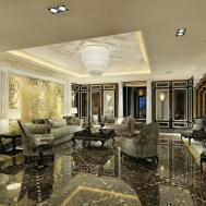 Marble Floor Living Room