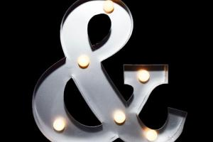 Marquee Light Symbol Ampersand Led Paperlanternstore