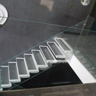 Marretti Srl Structural Glass Wooden Steps Internal