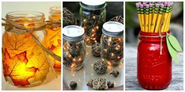 Mason Jar Fall Crafts Autumn Diy Ideas Jars Photos