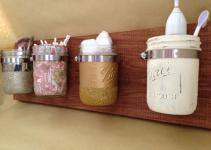 Mason Jar Wall Storage Organizer