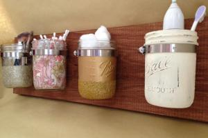 Mason Jar Wall Storage Organizer