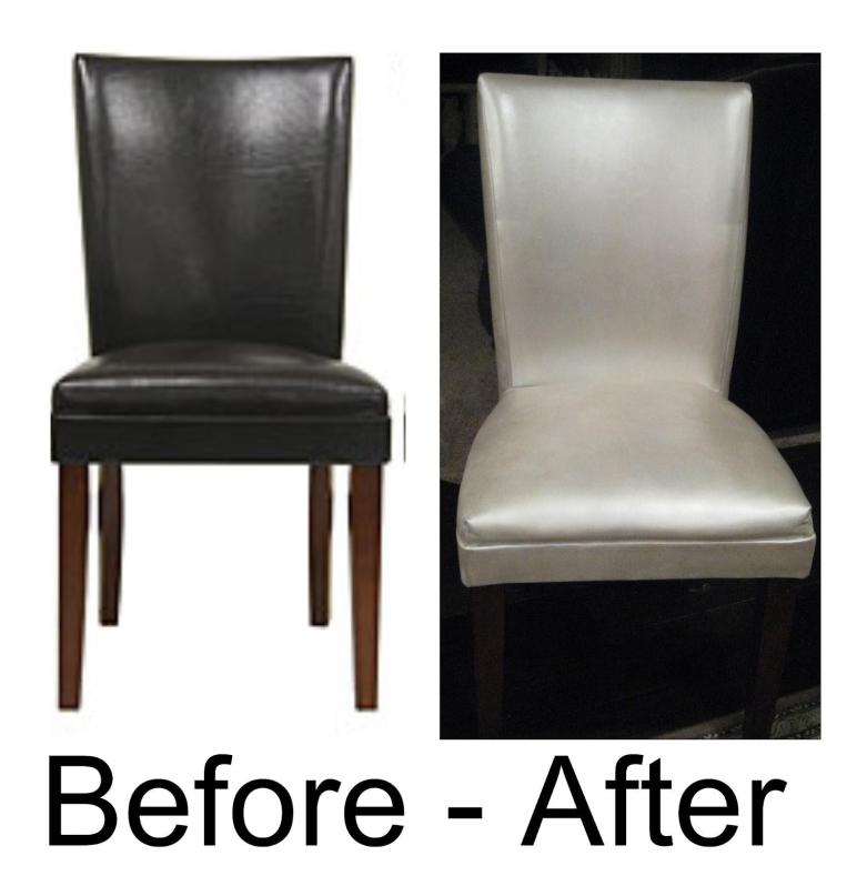 Mckinley Clan Painted Leather Dining Chairs