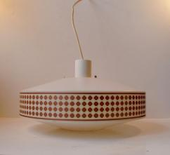 Mid Century Pendant Lamp Geometric Copper Patterns