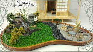 Miniature Japanese Inspired Garden Working Lantern