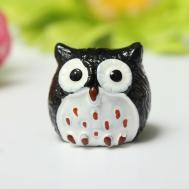 Miniature Resin Owl Diy Craft Woodland Flowers Planter Pot