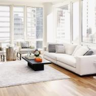 Minimalist White Living Room Decor Apartment