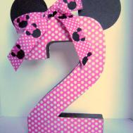 Minnie Mouse Birthday Paper Mache