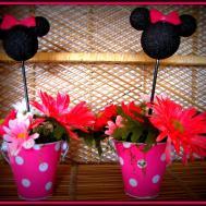 Minnie Mouse Party Table Decoration Photograph Mous