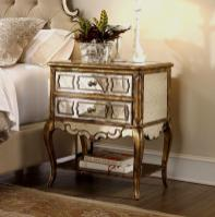 Mirror Wood Bedside Table Best Nightstand Mirrored