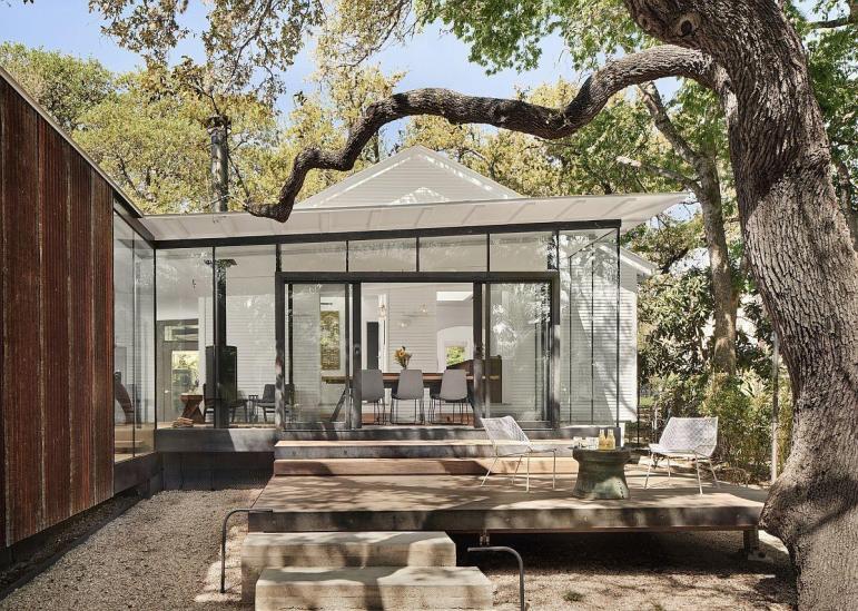 Modern Cottage Extension Exterior Terraces Nick