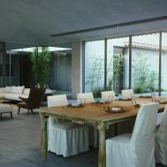 Modern Cottage Living Dining Room Interior Design Ideas