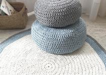 Modern Crochet Floor Cushions Nursery Decor Kids