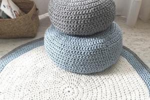 Modern Crochet Floor Cushions Nursery Decor Kids