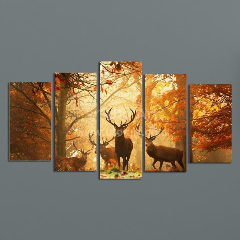 Modern Digital Print Canvas Animal Deer Custom
