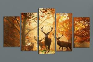 Modern Digital Print Canvas Animal Deer Custom