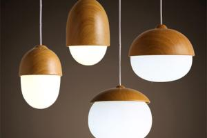 Modern Diy Decorative Pendant Light Nut Egg Shaped Bar