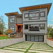 Modern Exterior Home Tile Floors Fence