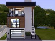 Modern House Plans Narrow Lots Numberedtype