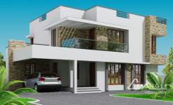 Modern Kerala Home Design 2300