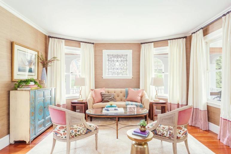 Modern Living Room Design Feminine Themes